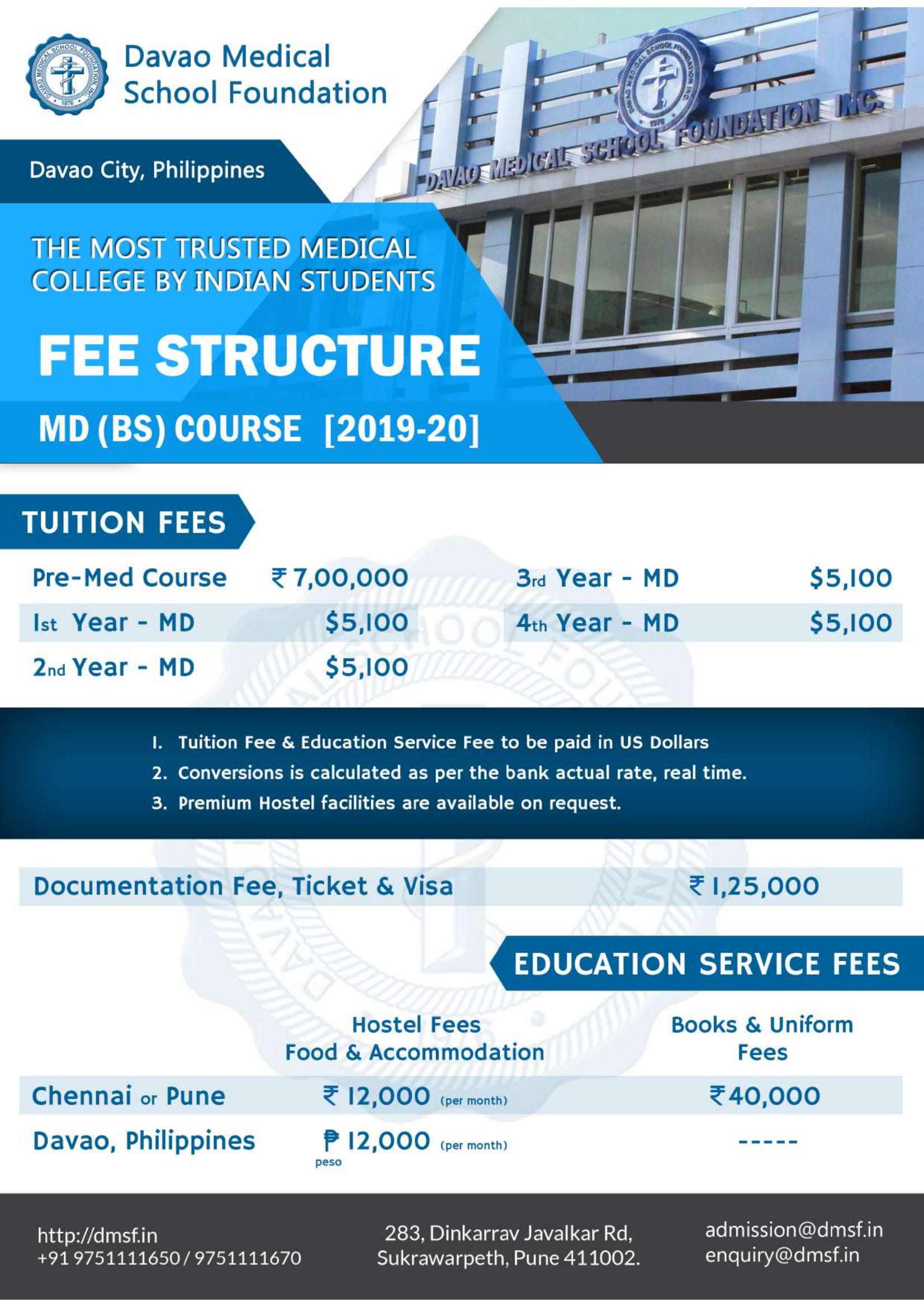 dmsf fee structure 2019-20